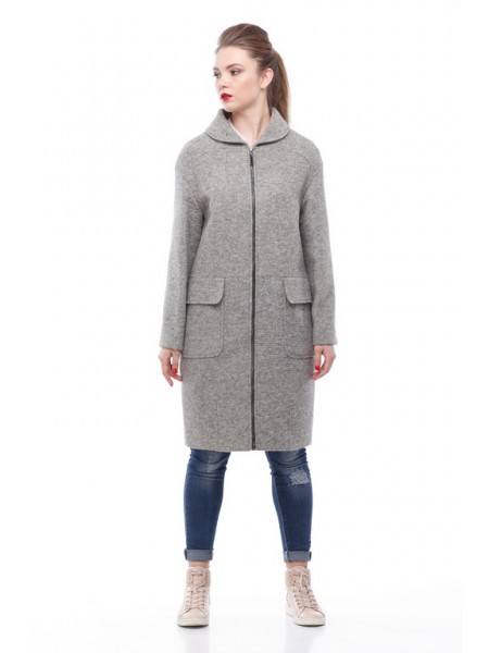 Пальто Алегра св-серый
