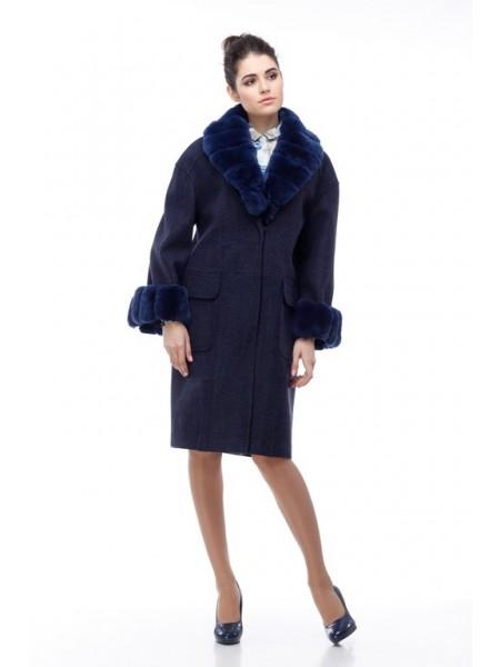 Пальто Монро темно-синий