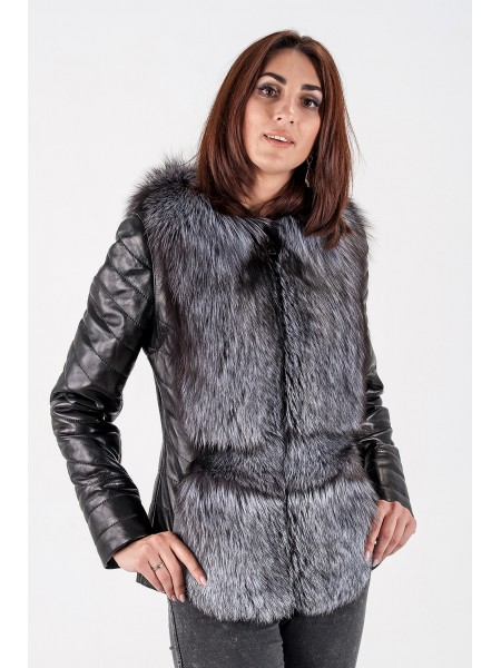 Чернобурка София куртка